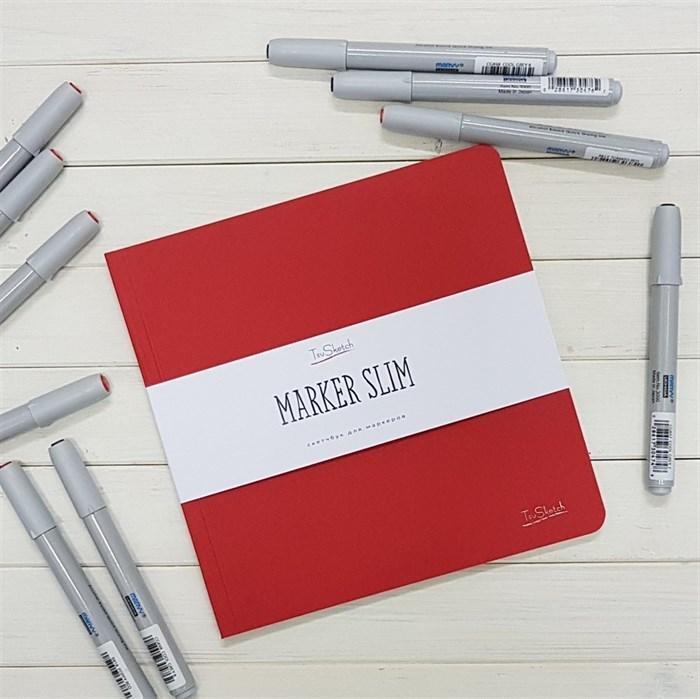 MarkerSlim 20х20,скетчбук для маркеров в мягкой обложке/ MarkerSlim 20x20 sketchbooks for markers in softcover. - фото 4593