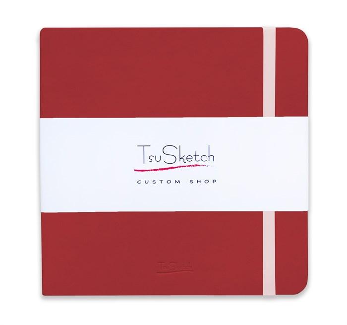 AquaSoft 17x17 , скетчбук для акварели, 25% хлопка , мягкая обложка из экокожи /AquaSoft 17x17, sketchbook for watercolor, 25% cotton, eco-leather