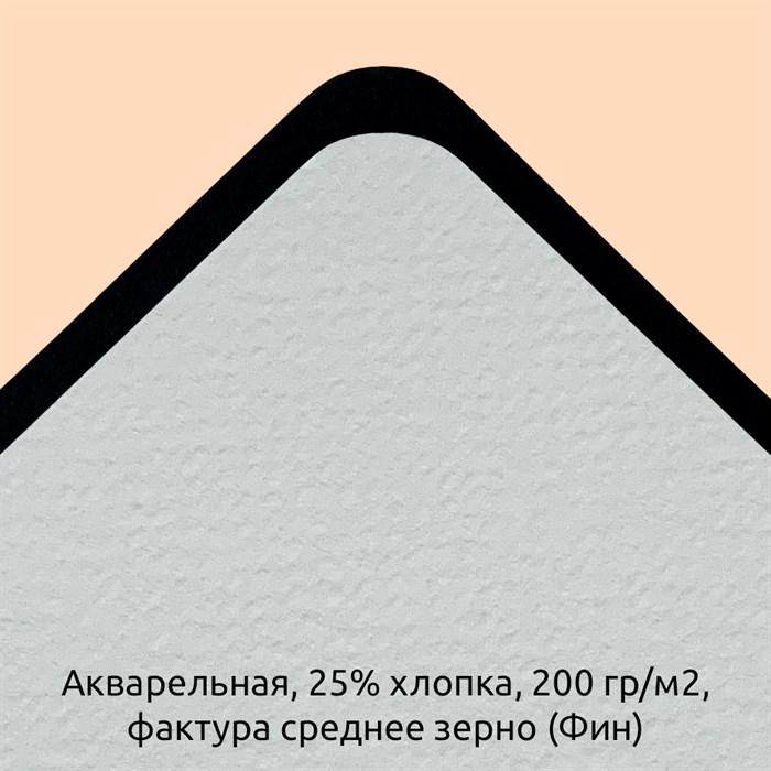 Блок Акварельный 25% хлопка, 200гр./м2 Фактура Среднее зерно (Фин) / Paper for Diskbook Watercolor, 25% cotton, 200g, Fin - фото 5251