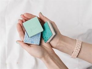 AquaBoYan 5х5, скетчбук-гармошка для миниатюр,с бумагой 25% хлопка, фактурой FIN
