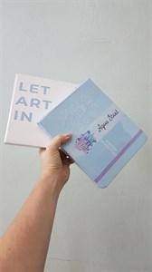 AquaStart А5,скетчбук для акварели с печатью на обложке, горизонтальный/ AquaStart A5,sketchbook for watercolor,horizontal