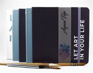 AquaTopArt А5,скетчбук для акварели с печатью на обложке,100% хлопок/AquaTop А5, sketchbook for watercolor 100% cotton