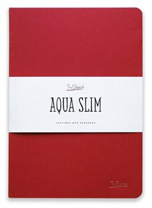 AquaSlim 17x24 , скетчбук для акварели, мягкая обложка, 25% хлопка/ AquaSlim 17x24, sketchbook  for watercolor, soft cover, 25% cotton - фото 4798