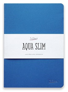 AquaSlim 17x24 , скетчбук для акварели, мягкая обложка, 25% хлопка/ AquaSlim 17x24, sketchbook  for watercolor, soft cover, 25% cotton - фото 4799