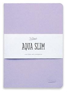 AquaSlim 17x24 , скетчбук для акварели, мягкая обложка, 25% хлопка/ AquaSlim 17x24, sketchbook  for watercolor, soft cover, 25% cotton - фото 4802