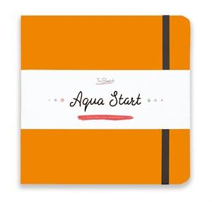 Aqua StArt 20x20, скетчбук для акварели,  25% хлопка/ Aqua StArt 20x20 sketchbook for watercolor, 25% cotton - фото 4831