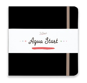 Aqua StArt 20x20, скетчбук для акварели,  25% хлопка/ Aqua StArt 20x20 sketchbook for watercolor, 25% cotton - фото 4832