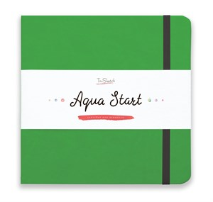 Aqua StArt 20x20, скетчбук для акварели,  25% хлопка/ Aqua StArt 20x20 sketchbook for watercolor, 25% cotton - фото 4833