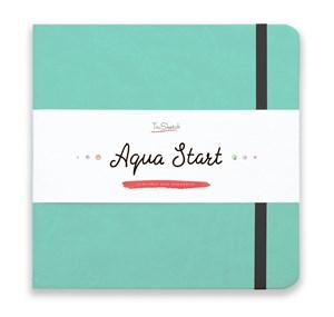 Aqua StArt 20x20, скетчбук для акварели,  25% хлопка/ Aqua StArt 20x20 sketchbook for watercolor, 25% cotton - фото 4837
