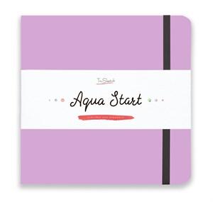 Aqua StArt 20x20, скетчбук для акварели,  25% хлопка/ Aqua StArt 20x20 sketchbook for watercolor, 25% cotton - фото 4839