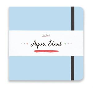 Aqua StArt 20x20, скетчбук для акварели,  25% хлопка/ Aqua StArt 20x20 sketchbook for watercolor, 25% cotton - фото 4840