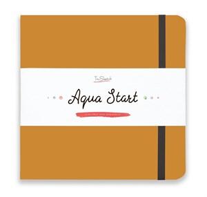 Aqua StArt 20x20, скетчбук для акварели,  25% хлопка/ Aqua StArt 20x20 sketchbook for watercolor, 25% cotton - фото 4842