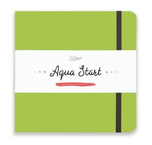 Aqua StArt 20x20, скетчбук для акварели,  25% хлопка/ Aqua StArt 20x20 sketchbook for watercolor, 25% cotton - фото 4843