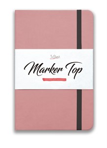 MarkerTop А5,  скетчбук для маркеров  (бумага не пропитывается маркерами насквозь)/ MarkerTop А5 sketchbook for markers (not soaked through with markers) - фото 5006