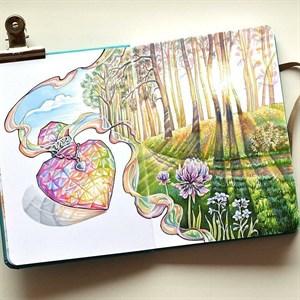 MarkerStArt А5, скетчбук для маркеров /MarkerStArt A5, sketchbook for markers - фото 5036