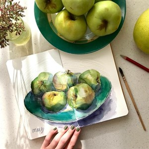 AquaTop A5, скетчбук для акварели, 100% хлопок/ AquaTop A5, sketchbook for watercolor,  100% cotton - фото 5040