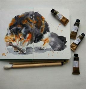 Aqua StArt A5, скетчбук для акварели,  25% хлопка / Aqua StArt A5 sketchbook for watercolor, 25% cotton - фото 5046