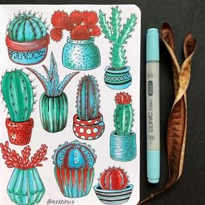 MarkerSlim A5,скетчбук для маркеров в мягкой обложке/ MarkerSlim A5 sketchbooks for markers in softcover. - фото 5050