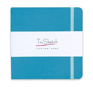 AquaSoft 17x17 , скетчбук для акварели, 25% хлопка , мягкая обложка из экокожи /AquaSoft 17x17, sketchbook for watercolor, 25% cotton, eco-leather - фото 5063
