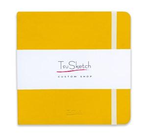 AquaSoft 17x17 , скетчбук для акварели, 25% хлопка , мягкая обложка из экокожи /AquaSoft 17x17, sketchbook for watercolor, 25% cotton, eco-leather - фото 5064