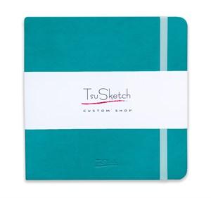 AquaSoft 17x17 , скетчбук для акварели, 25% хлопка , мягкая обложка из экокожи /AquaSoft 17x17, sketchbook for watercolor, 25% cotton, eco-leather - фото 5065