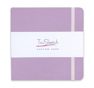 AquaSoft 17x17 , скетчбук для акварели, 25% хлопка , мягкая обложка из экокожи /AquaSoft 17x17, sketchbook for watercolor, 25% cotton, eco-leather - фото 5070