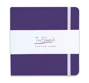 AquaSoft 17x17 , скетчбук для акварели, 25% хлопка , мягкая обложка из экокожи /AquaSoft 17x17, sketchbook for watercolor, 25% cotton, eco-leather - фото 5072