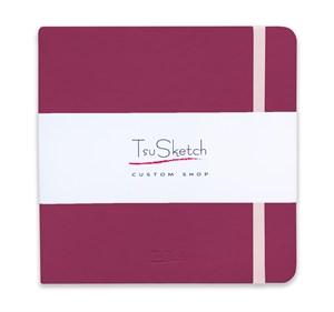 AquaSoft 17x17 , скетчбук для акварели, 25% хлопка , мягкая обложка из экокожи /AquaSoft 17x17, sketchbook for watercolor, 25% cotton, eco-leather - фото 5074