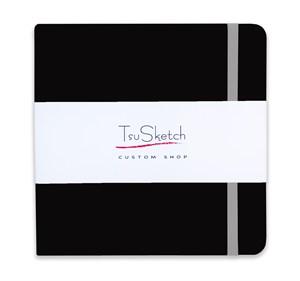 AquaSoft 17x17 , скетчбук для акварели, 25% хлопка , мягкая обложка из экокожи /AquaSoft 17x17, sketchbook for watercolor, 25% cotton, eco-leather - фото 5075