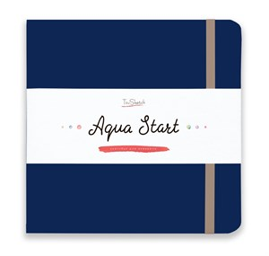 Aqua StArt 20x20, скетчбук для акварели,  25% хлопка/ Aqua StArt 20x20 sketchbook for watercolor, 25% cotton - фото 5114