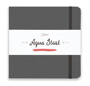Aqua StArt 20x20, скетчбук для акварели,  25% хлопка/ Aqua StArt 20x20 sketchbook for watercolor, 25% cotton - фото 5115