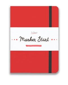 MarkerStArt А5, скетчбук для маркеров /MarkerStArt A5, sketchbook for markers - фото 5228