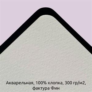 Блок Акварельный 100% хлопок 300гр. Среднее зерно (Фин) / Paper for Diskbook Watercolor, 100% cotton, 300g, Fin