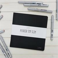 MarkerTopSlim, Скетчбуки в мягкой обложке с двухсторонней бумагой, плотность 220г/м2