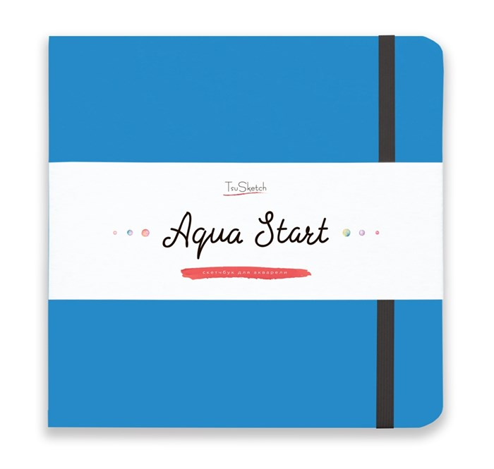 Aqua StArt 20x20, скетчбук для акварели,  25% хлопка/ Aqua StArt 20x20 sketchbook for watercolor, 25% cotton