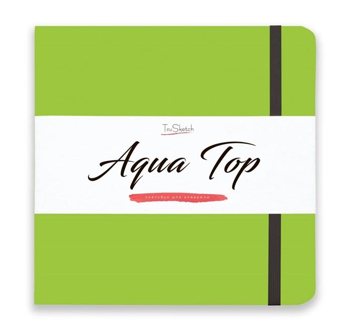 AquaTop 18x18, скетчбук для акварели, 100% хлопок/ AquaTop 18x18, sketchbook for watercolor,  100% cotton - фото 4858