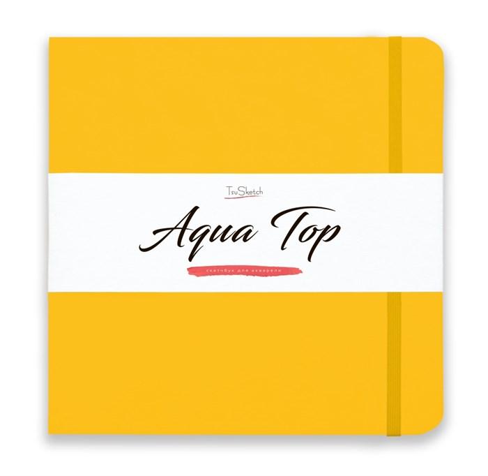 AquaTop 25x25, скетчбук для акварели, 100% хлопок/ AquaTop 25x25, sketchbook for watercolor,  100% cotton - фото 4913