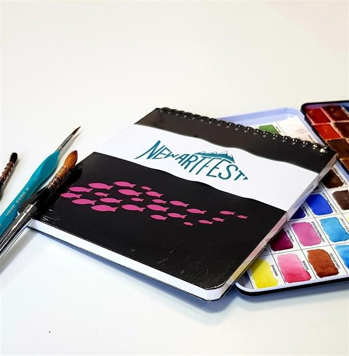Aqua PAD 17х17, скетчбук для акварели, 25% хлопока / AquaSlim Pad 17х17, sketchbook for watercolor, 25% cotton - фото 4941