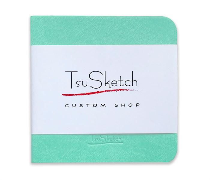 AquaSoft 10x10,скетчбук для акварели,25% хлопка,мягкая обложка из экокожи /AquaSoft 10x10, sketchbook for watercolor, 25% cotton, eco-leather - фото 5136