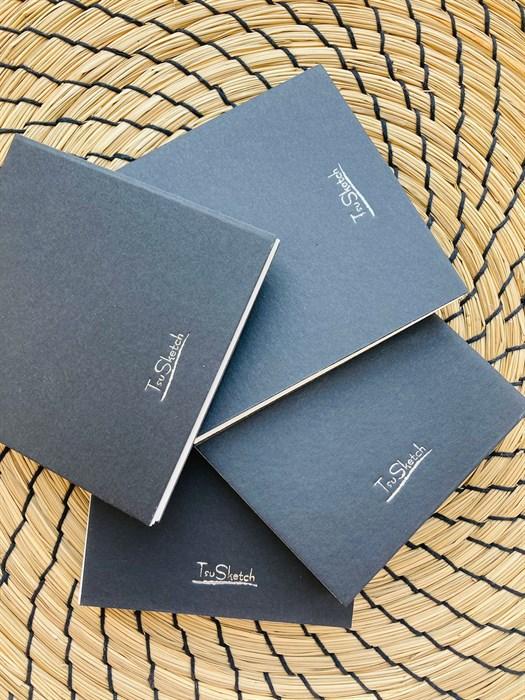 AquaBoYan 10х10, скетчбук-гармошка для миниатюр, с бумагой 25% хлопка, фактурой FIN - фото 5661