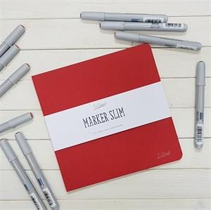 MarkerSlim 20х20,скетчбук для маркеров в мягкой обложке/ MarkerSlim 20x20 sketchbooks for markers in softcover.