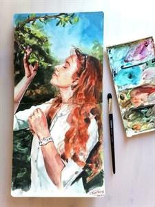 AquaTop 25x25, скетчбук для акварели, 100% хлопок/ AquaTop 25x25, sketchbook for watercolor,  100% cotton - фото 4702