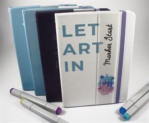 MarkerStArt 20x20,скетчбук для маркеров,с печатью на обложке/MarkerStArt 20x20, sketchbooks for markers