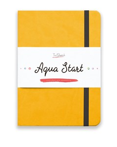 Aqua StArt A5, скетчбук для акварели,  25% хлопка / Aqua StArt A5 sketchbook for watercolor, 25% cotton - фото 4761