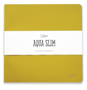 AquaSlim 23x23 , скетчбук для акварели, мягкая обложка, 25% хлопка/ AquaSlim 23x23, sketchbook  for watercolor, soft cover, 25% cotton