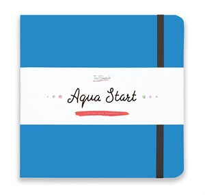 Aqua StArt 20x20, скетчбук для акварели,  25% хлопка/ Aqua StArt 20x20 sketchbook for watercolor, 25% cotton - фото 4834
