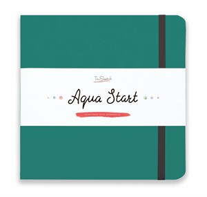 Aqua StArt 20x20, скетчбук для акварели,  25% хлопка/ Aqua StArt 20x20 sketchbook for watercolor, 25% cotton - фото 4836