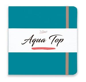 AquaTop 18x18, скетчбук для акварели, 100% хлопок/ AquaTop 18x18, sketchbook for watercolor,  100% cotton - фото 4848