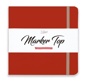 MarkerTop 20х20,  скетчбук для маркеров  (не пропитывается маркерами насквозь)/ MarkerTop 20х20 sketchbook for markers (not soaked through with markers) - фото 4886