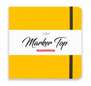 MarkerTop 20х20,  скетчбук для маркеров  (не пропитывается маркерами насквозь)/ MarkerTop 20х20 sketchbook for markers (not soaked through with markers) - фото 4887
